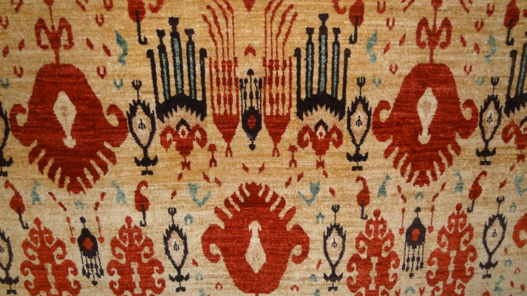 Contemporary Ikat design carpet