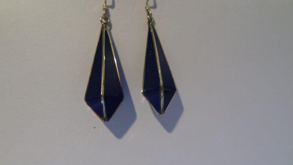 Afghan Lapis and silver earrings
