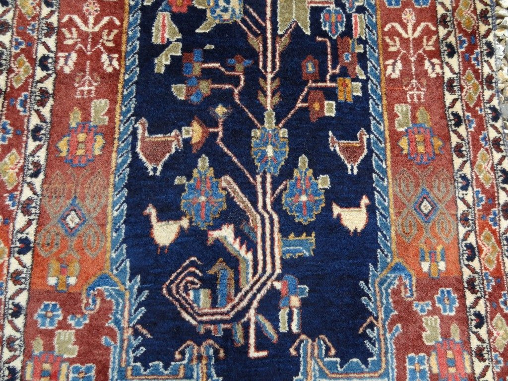 Hand knotted and woven Persian runner
