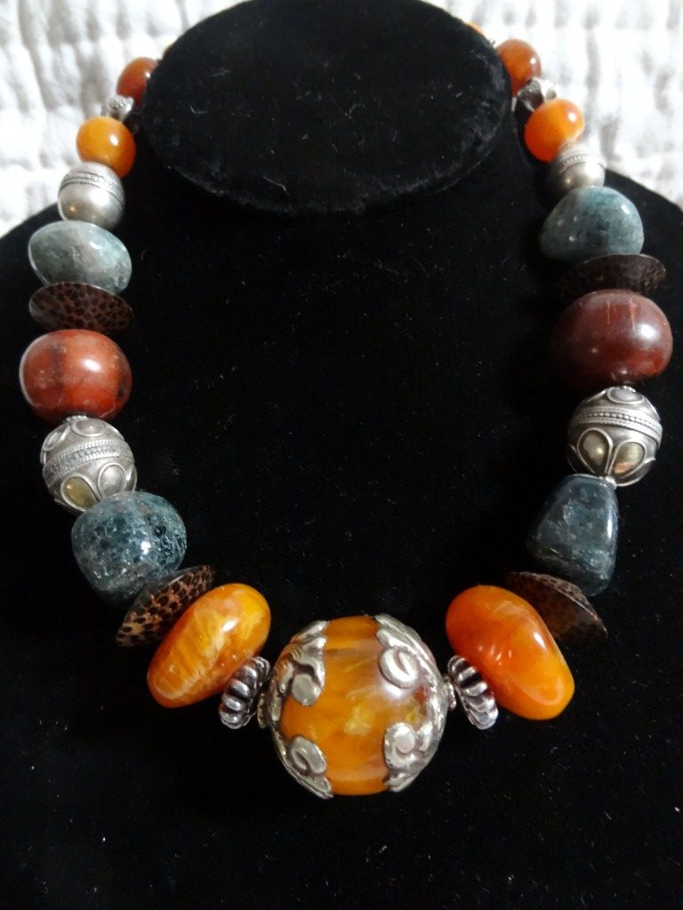 Tibetan and Afghan bead necklace