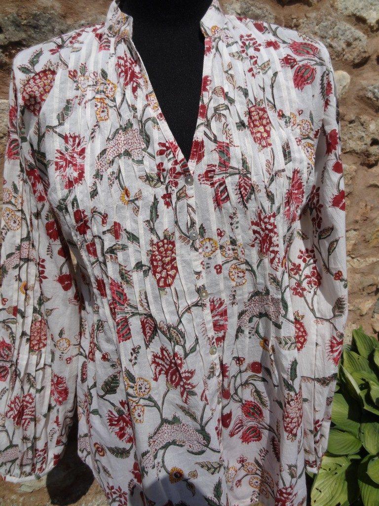 Indian cotton short kaftan top