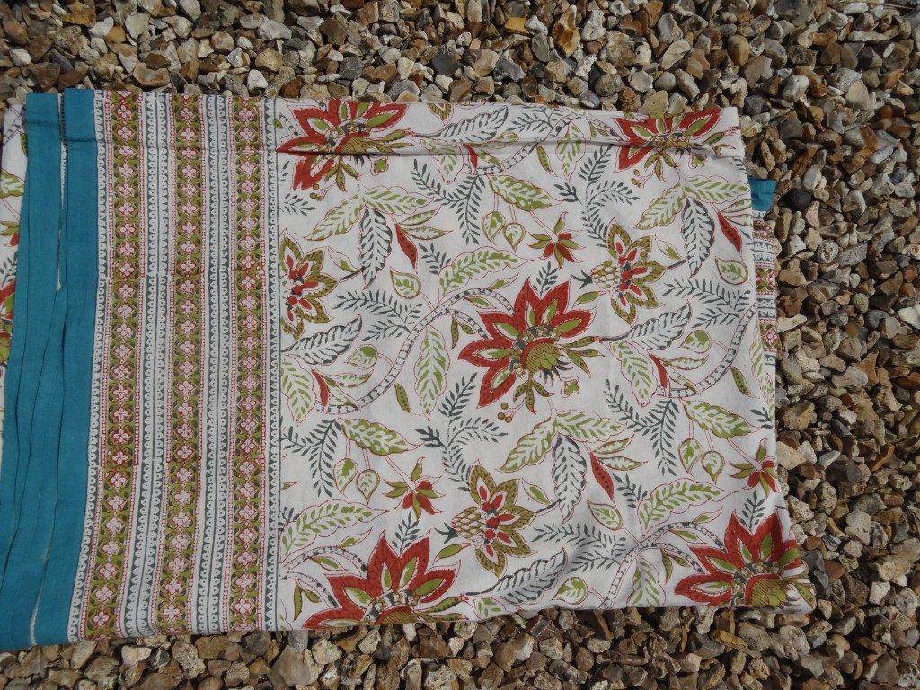 """""""Tiger lily"""" block print bedspread/tablecloth"""