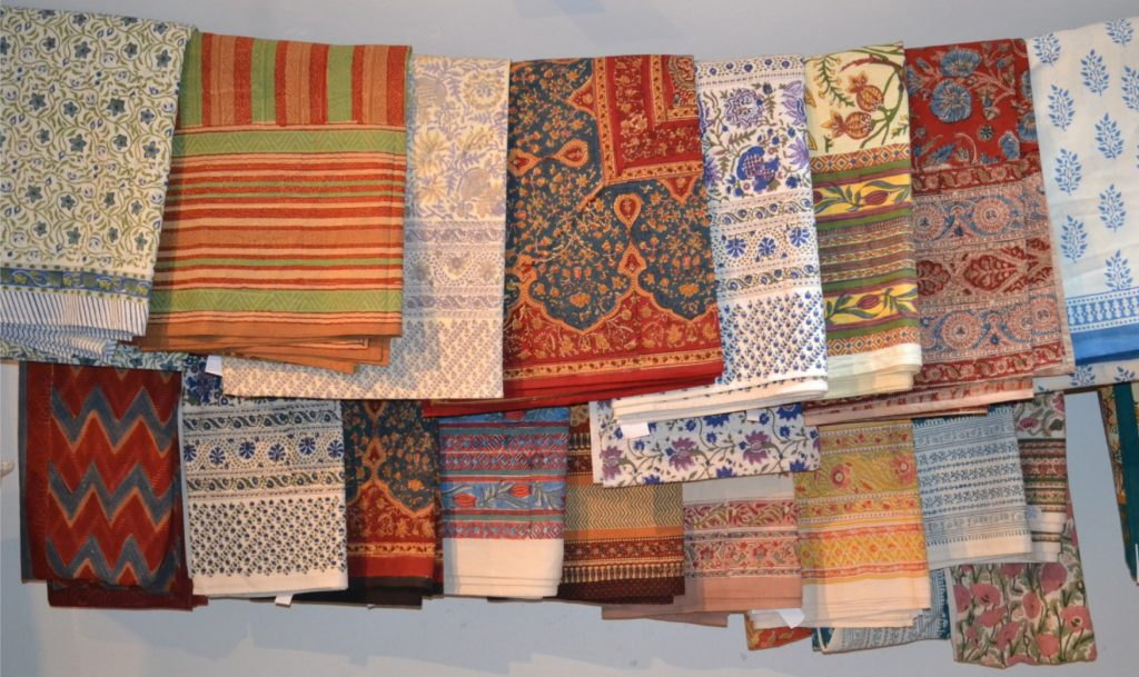 Oriental Design Block Printed Cotton Bedspreads