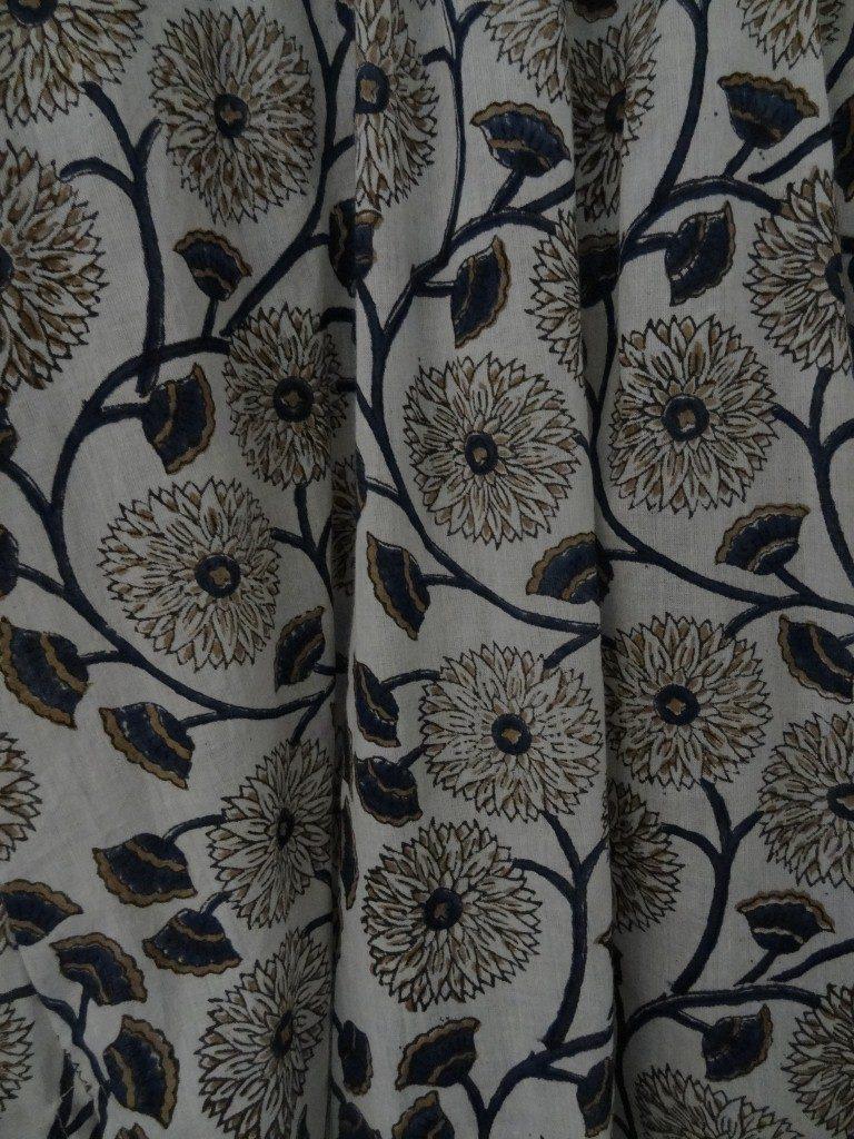 Block printed Indian cotton Kaftan